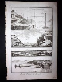 Diderot C1760 Folio Antique Print. Agriculture, Jardinage 02A